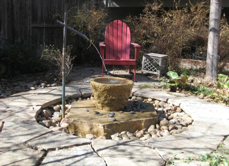 pondless fountain and stone bowl