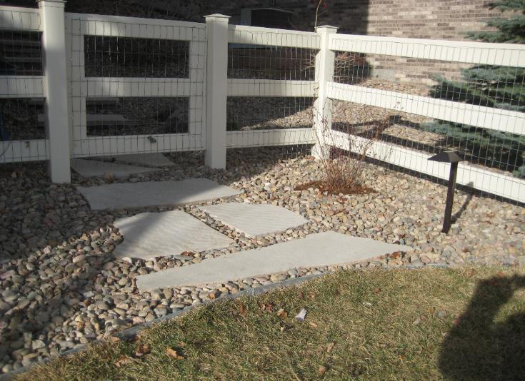 flagstone steppers path