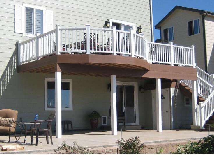 2nd story deck and platform stairs
