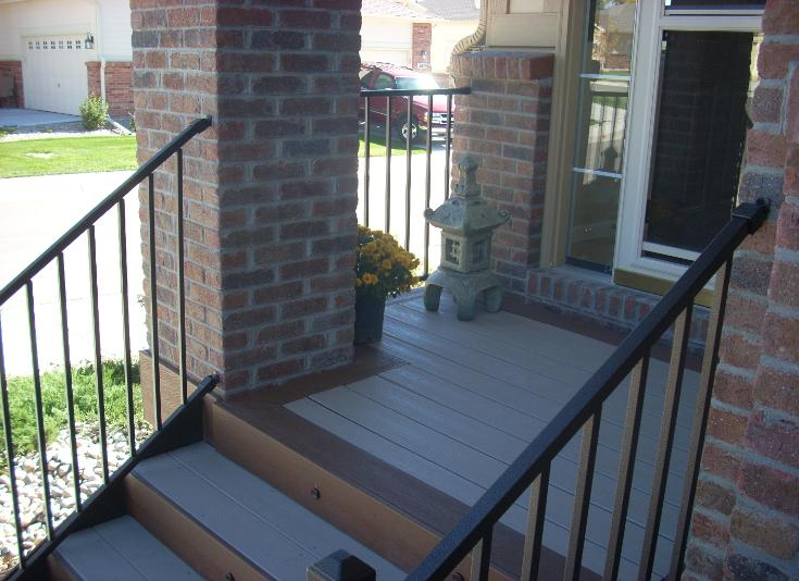Front porch decking and stairs